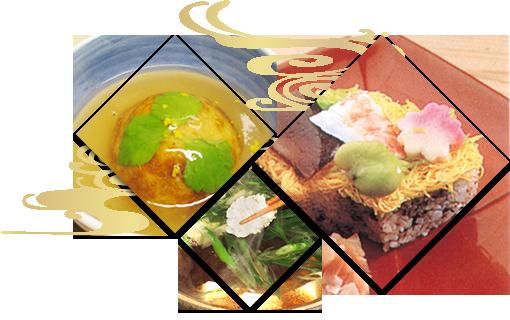 昭和九年創業。鱧料理・すっぽん鍋・かぶら蒸し・筍料理の三栄