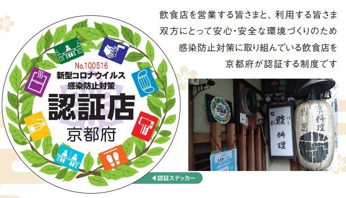 京都府新型コロナウイルス感染防止対策認証店として認証されました